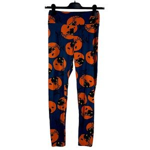 Holiday HALLOWEEN haunted house leggings ONE SIZE